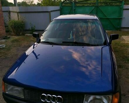 Синий Ауди 80, объемом двигателя 1.8 л и пробегом 273 тыс. км за 3000 $, фото 1 на Automoto.ua