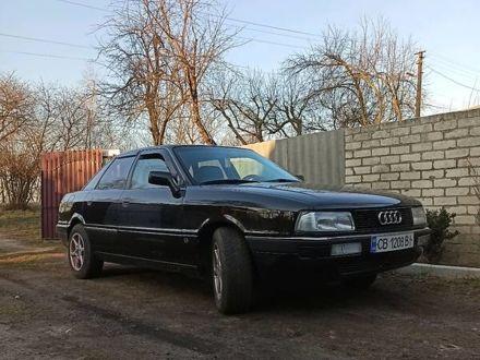 Черный Ауди 90, объемом двигателя 2 л и пробегом 205 тыс. км за 2700 $, фото 1 на Automoto.ua