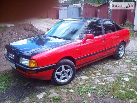 Червоний Ауді 90, об'ємом двигуна 2 л та пробігом 300 тис. км за 2700 $, фото 1 на Automoto.ua