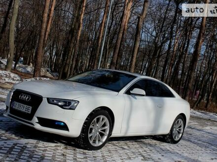 Білий Ауді A5, об'ємом двигуна 2 л та пробігом 58 тис. км за 16999 $, фото 1 на Automoto.ua