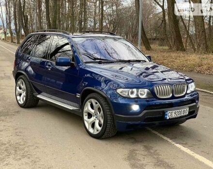 Синий БМВ Х5, объемом двигателя 4.8 л и пробегом 200 тыс. км за 20000 $, фото 1 на Automoto.ua