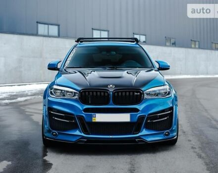 Синий БМВ Х6 М, объемом двигателя 4.4 л и пробегом 30 тыс. км за 119000 $, фото 1 на Automoto.ua