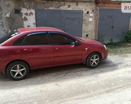Красный Шевроле Лачетти, объемом двигателя 1.6 л и пробегом 140 тыс. км за 5700 $, фото 1 на Automoto.ua