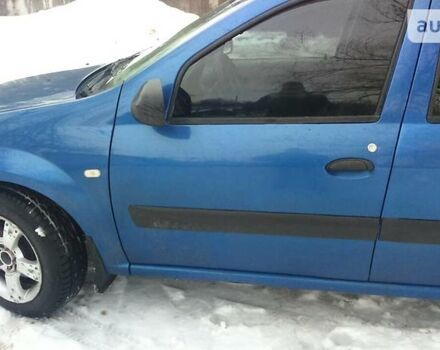 Синий Дачия Логан, объемом двигателя 1.6 л и пробегом 190 тыс. км за 7000 $, фото 1 на Automoto.ua