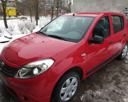 Красный Дачия Сандеро, объемом двигателя 1.4 л и пробегом 124 тыс. км за 4400 $, фото 1 на Automoto.ua