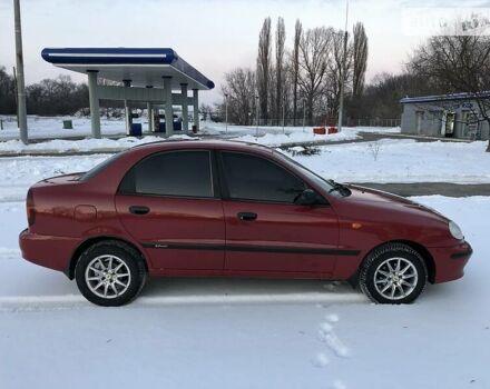 Красный Дэу Ланос, объемом двигателя 1.5 л и пробегом 98 тыс. км за 3950 $, фото 1 на Automoto.ua