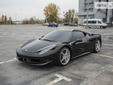 Черный Феррари 458 Италия, объемом двигателя 4.5 л и пробегом 31 тыс. км за 239000 $, фото 1 на Automoto.ua