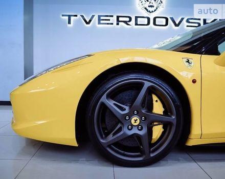 Желтый Феррари 458 Италия, объемом двигателя 4.5 л и пробегом 14 тыс. км за 199900 $, фото 1 на Automoto.ua