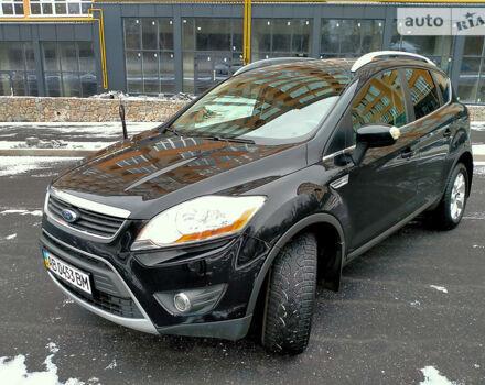 Черный Форд Куга, объемом двигателя 2 л и пробегом 125 тыс. км за 12600 $, фото 1 на Automoto.ua