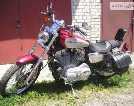 Вишнёвый Харлей-Дэвидсон Спорстстер, объемом двигателя 0.9 л и пробегом 5 тыс. км за 9850 $, фото 1 на Automoto.ua