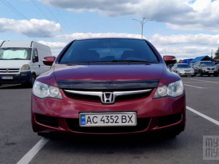 Красный Хонда Цивик, объемом двигателя 1.8 л и пробегом 223 тыс. км за 7200 $, фото 1 на Automoto.ua