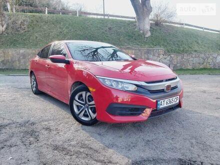 Червоний Хонда Сівік, об'ємом двигуна 2 л та пробігом 71 тис. км за 11950 $, фото 1 на Automoto.ua