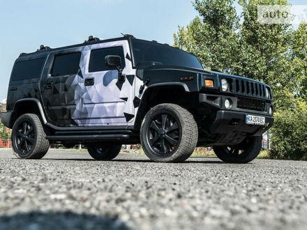 Черный Хаммер Н2, объемом двигателя 6 л и пробегом 218 тыс. км за 19999 $, фото 1 на Automoto.ua