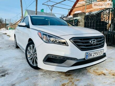 Белый Хендай Соната, объемом двигателя 2.4 л и пробегом 45 тыс. км за 13300 $, фото 1 на Automoto.ua