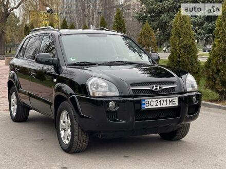 Черный Хендай Туксон, объемом двигателя 2 л и пробегом 88 тыс. км за 10300 $, фото 1 на Automoto.ua