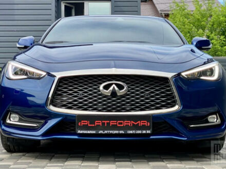 Синий Инфинити Q60, объемом двигателя 3 л и пробегом 39 тыс. км за 36900 $, фото 1 на Automoto.ua