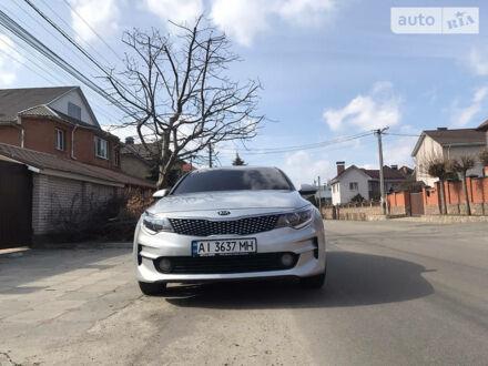 Серый Киа K5, объемом двигателя 2 л и пробегом 220 тыс. км за 14000 $, фото 1 на Automoto.ua