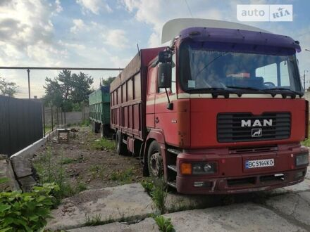 Красный МАН 19.414, объемом двигателя 12 л и пробегом 60 тыс. км за 13000 $, фото 1 на Automoto.ua