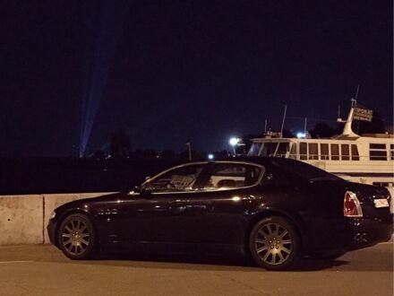 Чорний Мазераті Quattroporte, об'ємом двигуна 4.2 л та пробігом 79 тис. км за 15500 $, фото 1 на Automoto.ua