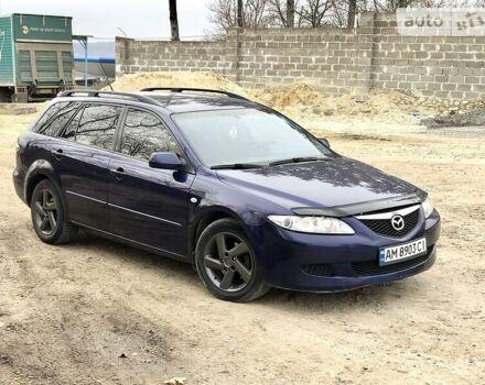 Синий Мазда 6, объемом двигателя 2 л и пробегом 255 тыс. км за 3999 $, фото 1 на Automoto.ua