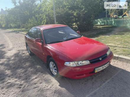 Красный Мазда 626, объемом двигателя 1.84 л и пробегом 350 тыс. км за 2100 $, фото 1 на Automoto.ua