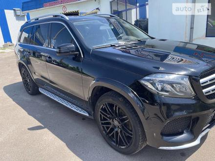 Черный Мерседес ГЛС 350, объемом двигателя 3 л и пробегом 210 тыс. км за 55500 $, фото 1 на Automoto.ua