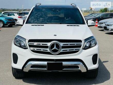 Белый Мерседес GLS 450, объемом двигателя 3 л и пробегом 47 тыс. км за 55000 $, фото 1 на Automoto.ua