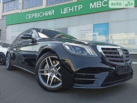 Черный Мерседес S 560, объемом двигателя 4 л и пробегом 12 тыс. км за 118900 $, фото 1 на Automoto.ua