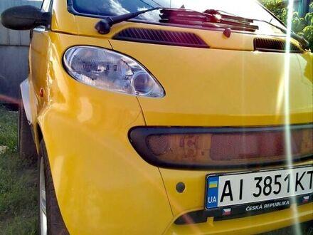 Желтый Мерседес Смарт, объемом двигателя 0.6 л и пробегом 130 тыс. км за 3000 $, фото 1 на Automoto.ua