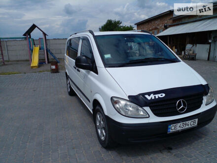 Белый Мерседес Vito 109, объемом двигателя 2.2 л и пробегом 329 тыс. км за 7200 $, фото 1 на Automoto.ua
