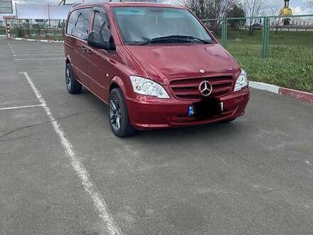 Красный Мерседес Vito 109, объемом двигателя 2.2 л и пробегом 281 тыс. км за 7300 $, фото 1 на Automoto.ua