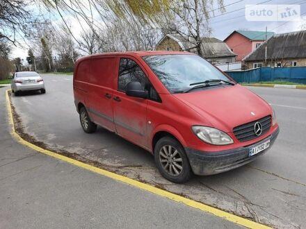 Красный Мерседес Vito 109, объемом двигателя 2.1 л и пробегом 364 тыс. км за 5500 $, фото 1 на Automoto.ua