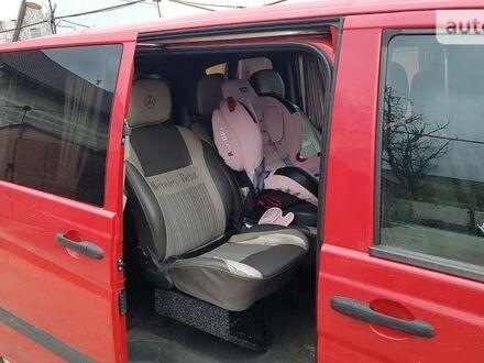 Красный Мерседес Vito 109, объемом двигателя 2.1 л и пробегом 211 тыс. км за 7700 $, фото 1 на Automoto.ua
