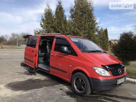 Красный Мерседес Vito 109, объемом двигателя 2.2 л и пробегом 261 тыс. км за 8500 $, фото 1 на Automoto.ua