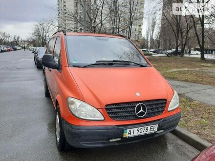 Красный Мерседес Vito 109, объемом двигателя 2.1 л и пробегом 280 тыс. км за 9500 $, фото 1 на Automoto.ua