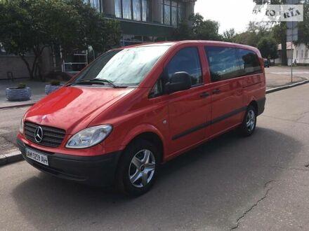 Красный Мерседес Vito 109, объемом двигателя 2.1 л и пробегом 316 тыс. км за 8999 $, фото 1 на Automoto.ua