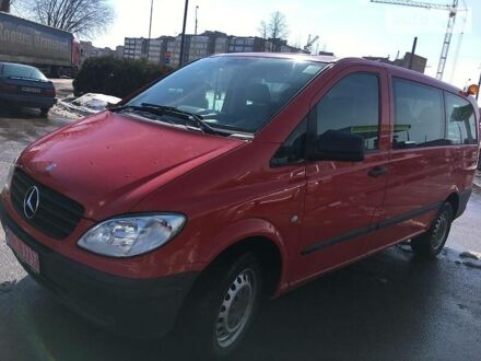 Красный Мерседес Vito 109, объемом двигателя 2.2 л и пробегом 254 тыс. км за 12500 $, фото 1 на Automoto.ua