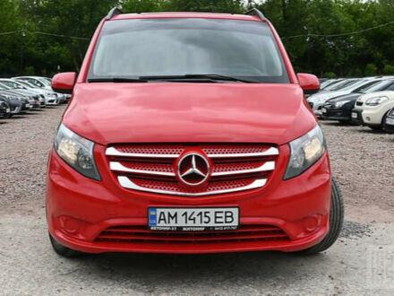 Красный Мерседес Vito 114, объемом двигателя 2.1 л и пробегом 171 тыс. км за 17400 $, фото 1 на Automoto.ua