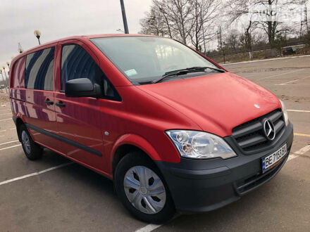 Красный Мерседес Vito 110, объемом двигателя 2.1 л и пробегом 269 тыс. км за 11500 $, фото 1 на Automoto.ua