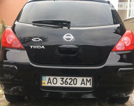 Черный Ниссан Тиида, объемом двигателя 1.6 л и пробегом 190 тыс. км за 6200 $, фото 1 на Automoto.ua