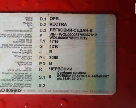 Красный Опель Вектра А, объемом двигателя 0 л и пробегом 232 тыс. км за 2800 $, фото 1 на Automoto.ua