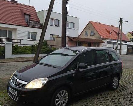 Черный Опель Зафира, объемом двигателя 1.6 л и пробегом 198 тыс. км за 9000 $, фото 1 на Automoto.ua
