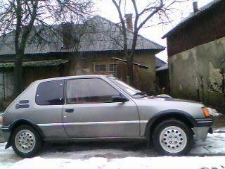 Сірий Пежо 205, об'ємом двигуна 1.6 л та пробігом 223 тис. км за 2650 $, фото 1 на Automoto.ua