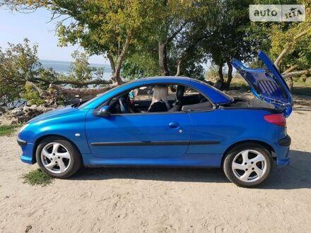 Синий Пежо 206 СС, объемом двигателя 2 л и пробегом 237 тыс. км за 4400 $, фото 1 на Automoto.ua
