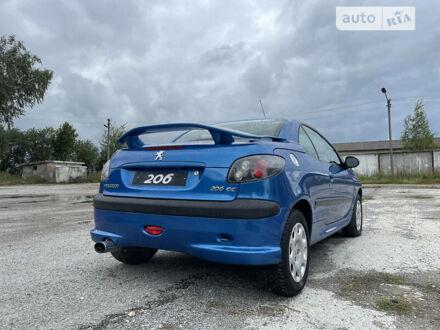 Синий Пежо 206 СС, объемом двигателя 1.6 л и пробегом 180 тыс. км за 3750 $, фото 1 на Automoto.ua