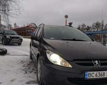 Чорний Пежо 307, об'ємом двигуна 2 л та пробігом 245 тис. км за 5250 $, фото 1 на Automoto.ua