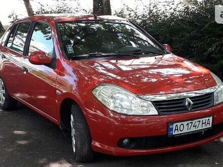 Красный Рено Симбол, объемом двигателя 1.1 л и пробегом 122 тыс. км за 4700 $, фото 1 на Automoto.ua