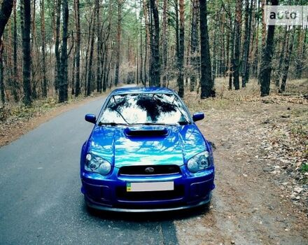 Синий Субару Импреза, объемом двигателя 2 л и пробегом 136 тыс. км за 13800 $, фото 1 на Automoto.ua