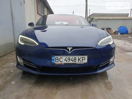 Синий Тесла Модель С, объемом двигателя 0 л и пробегом 77 тыс. км за 49000 $, фото 1 на Automoto.ua