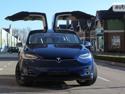 Синий Тесла Модель Х, объемом двигателя 0 л и пробегом 150 тыс. км за 55700 $, фото 1 на Automoto.ua